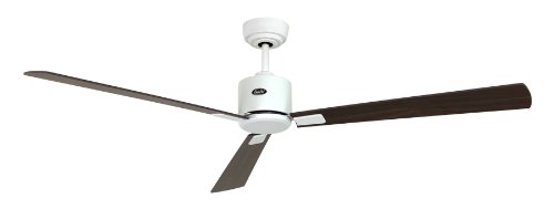 Deckenventilator Eco Neo II, 152 cm, inkl. Fernbedienung Finish: Lacquered White with Walnut and Cherry Blades