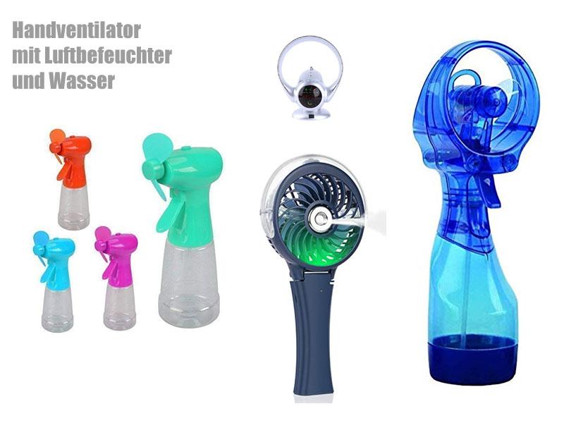 Handventilator mit Wasser und Sprühfunktion